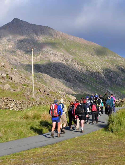 Ascending Scafell Pike
